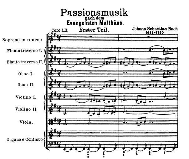 Auschnitt aus Bachs Matthäus-Passion