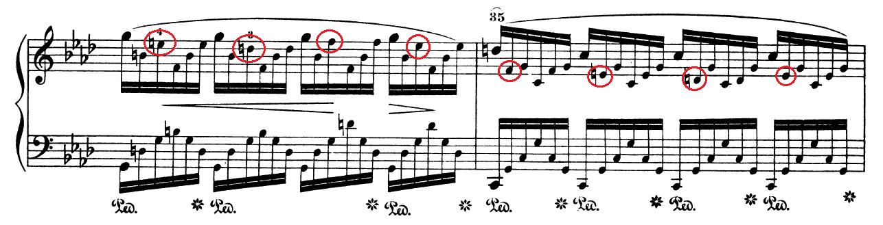 Ausschnitt aus Chopins As-Dur-Etüde op. 25