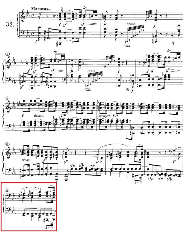 Beethoven op. 111 - 1. Satz - Takt 14