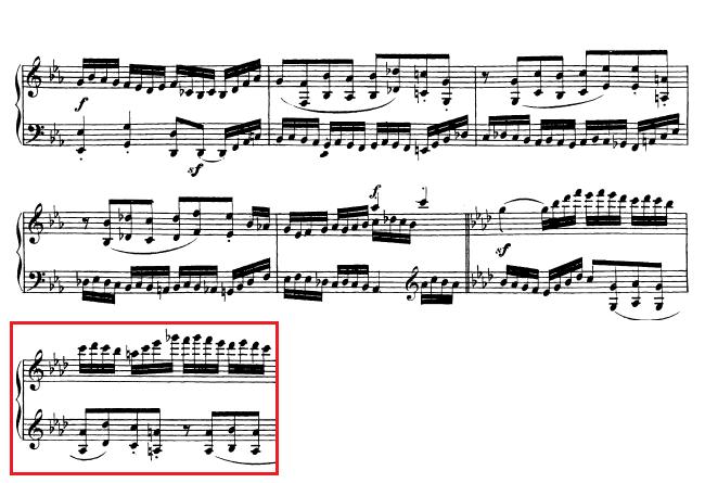 Beethoven op. 111 - 1. Satz - Takt 45