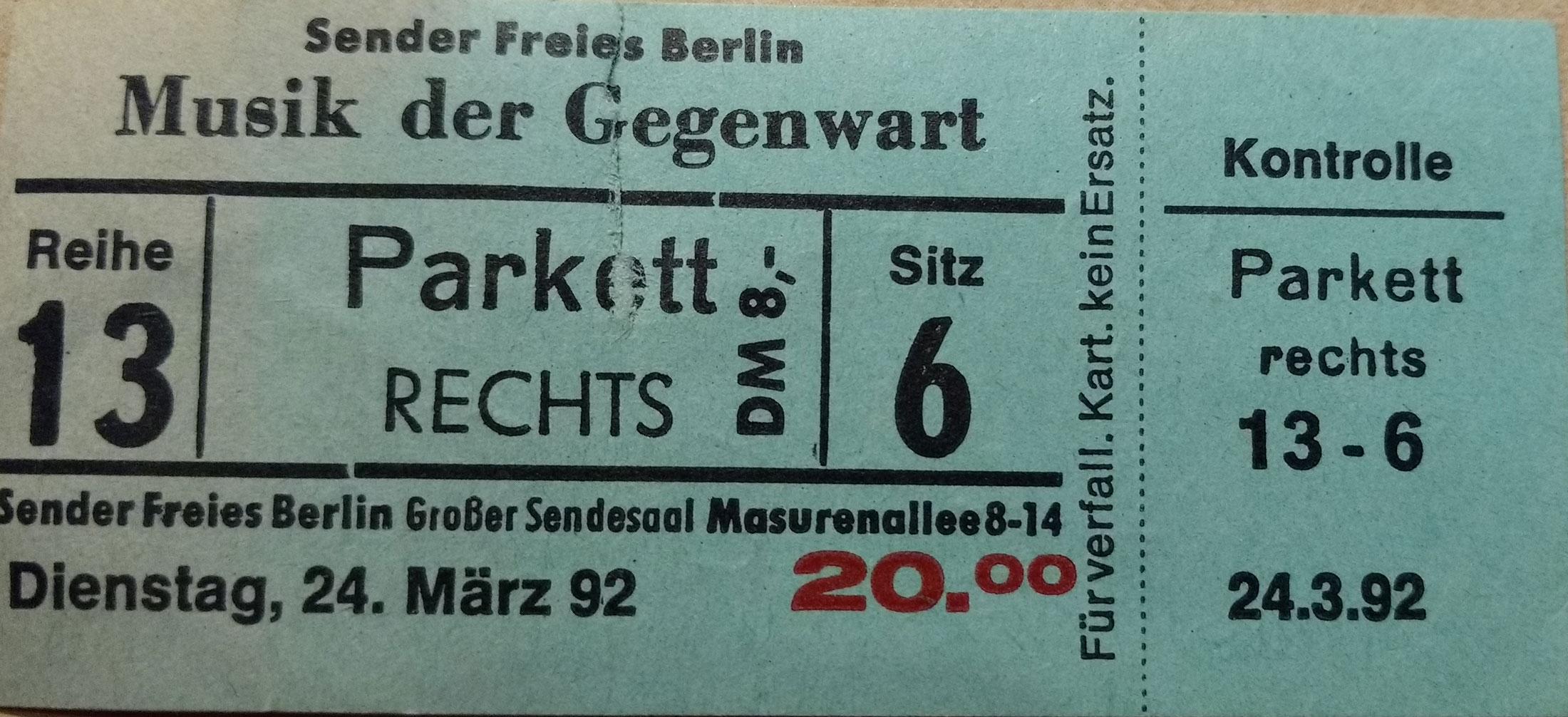 Musik der Gegenwart. Foto: Hufner